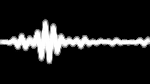 black & white wave Animation