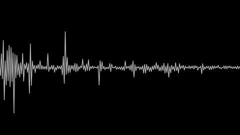 white audio spectrum Stock Video Footage