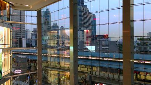 MODERN ARCHITECTURE - BANGKOK TERMINAL 21 MALL Stock Video Footage