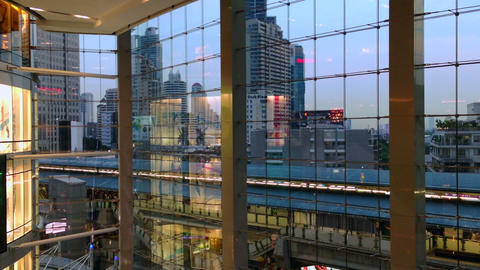 MODERN ARCHITECTURE - BANGKOK TERMINAL 21 MALL Stock Video Footage