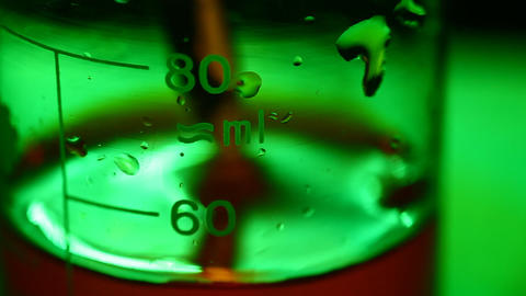 Lab test beaker Stock Video Footage