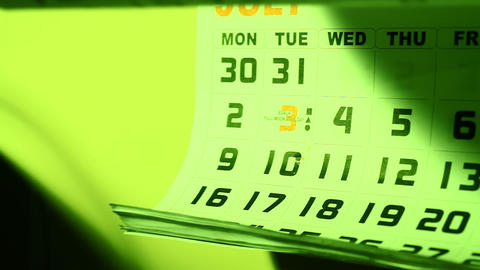 Calendar Stock Video Footage