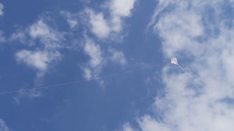 White kite in the sky Stock Video Footage