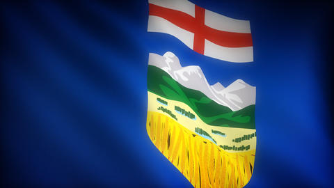 Flag of Alberta Stock Video Footage