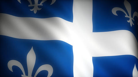 Flag of Quebec Stock Video Footage