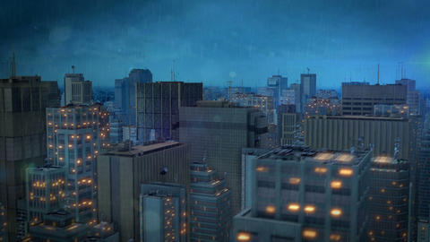 fly through the city hd Stock Video Footage