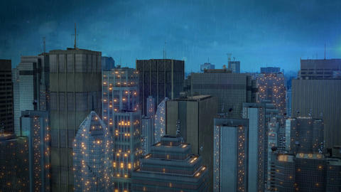 fly through the city hd Animation