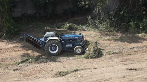 Farm Tractor Stock Video Footage
