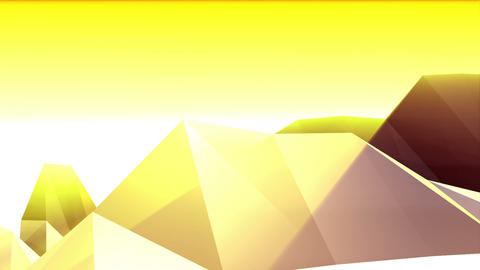 Geometric Mountain 4 Stock Video Footage