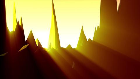 Geometric Mountain 6 Stock Video Footage