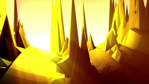 Geometric Mountain 6 Stock Video Footage
