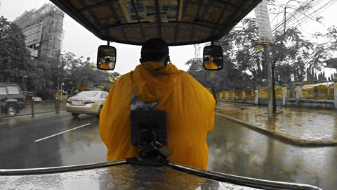 tuk tuk driver Stock Video Footage