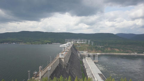 Krasnoyarsk hydroelectric power station dam 07 Footage