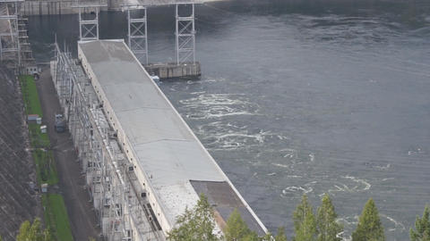 Krasnoyarsk hydroelectric power station dam 11 Stock Video Footage