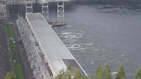 Krasnoyarsk hydroelectric power station dam 11 Footage