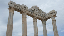 Greek columns, ancient ruins Stock Video Footage