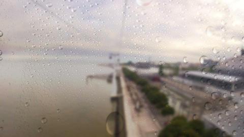 Cableway. Rain Stock Video Footage