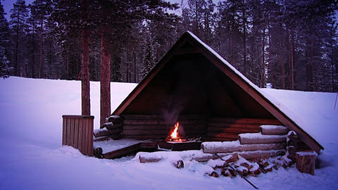 Shelter For The Winter Tourist stock footage