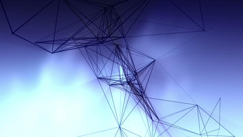 Connected Lines In The Sky 1 stock footage