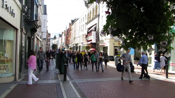 Grafton Street 1 stock footage