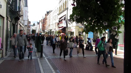 Grafton Street 1 Stock Video Footage