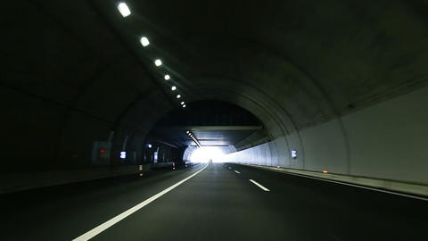 tunnel drive Stock Video Footage
