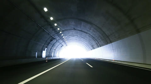 Tunnel Drive stock footage