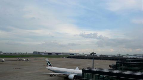 Japan Haneda Airport Time Lapse Movie Stock Video Footage