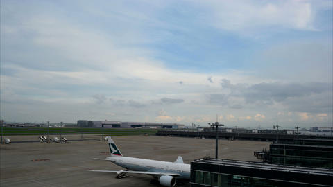 Japan Haneda Airport Time Lapse Movie Footage