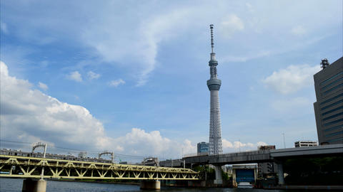 Tokyo Skytree Time Lapse Stock Video Footage