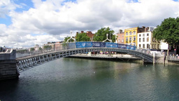 The Ha'penny Bridge Stock Video Footage