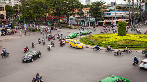 4k - TRAFFIC IN VIETNAM - HO CHI MINH CITY Footage