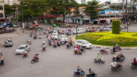 4k - TRAFFIC IN VIETNAM - HO CHI MINH CITY Stock Video Footage