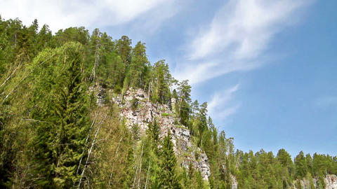 Around the cliff. Russia, the Ural Mountains Stock Video Footage
