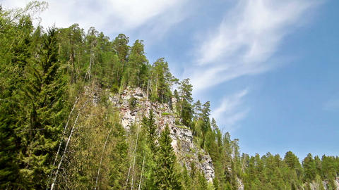 Around the cliff. Russia, the Ural Mountains Footage