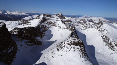 Mountain landscape from air Stock Video Footage