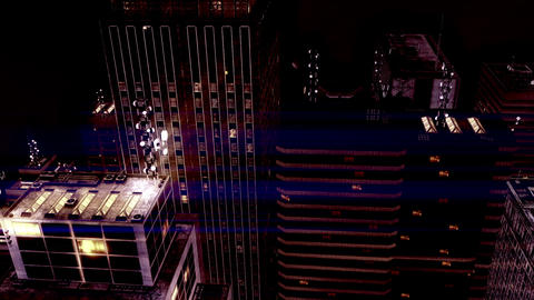 City by Night 03 Stock Video Footage