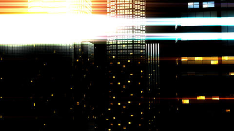 City by Night 05 Stock Video Footage