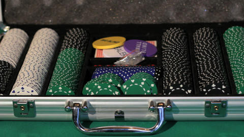 Poker Equipment stock footage