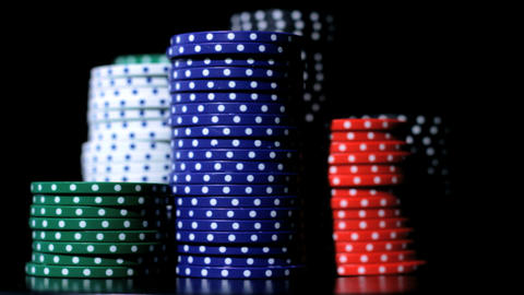 Poker chips stacking Footage