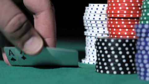 Two aces. Poker Stock Video Footage