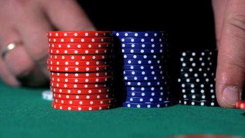 Poker bids Stock Video Footage