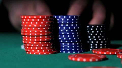 Poker bids Stock Video Footage