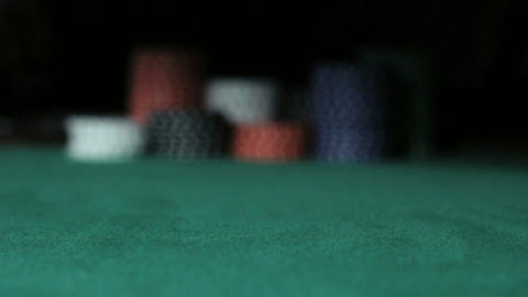 Gambler Player going all-in Stock Video Footage