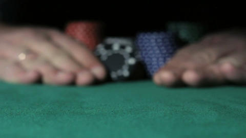 Gambler Player going all-in Footage