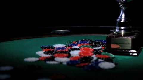 Winners Cup. Poker Stock Video Footage