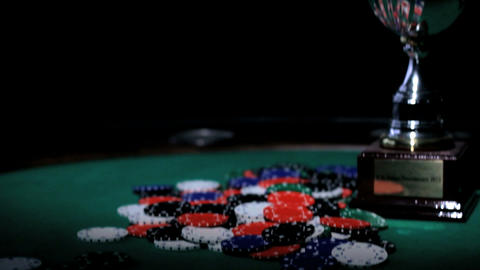 Winners Cup. Poker Stock Video Footage