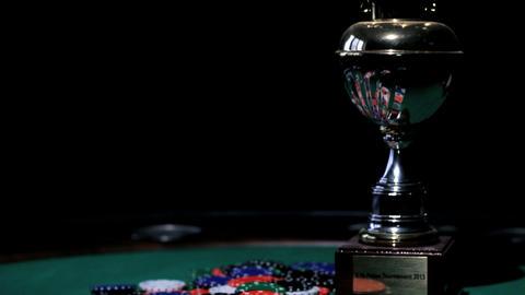 Gambler's Cup. Poker Stock Video Footage