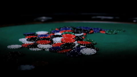 Color Chips. Poker Footage