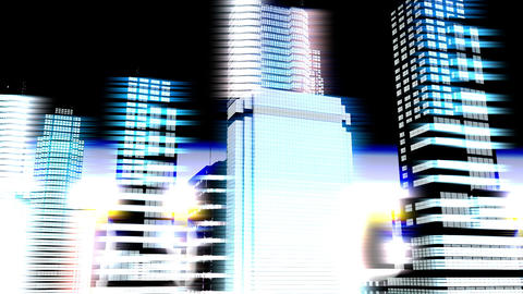 City by Night 09 Stock Video Footage